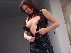 Trimmed pussy redhead Ionie Luvcoxx gets fucked hard from behind