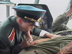 Official Anna Marta is fucked after giving a sergeant head