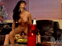 Slutty brunette's fucked silly until her she gets a mouthful of cum