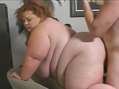 Dude fucks a fat ass bitch in her creases!