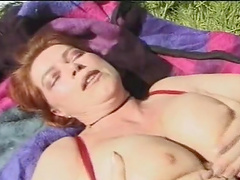 Amateur chick Red Hair enjoys having sex with an older guy