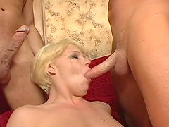 Messy facial ending after hardcore gangbang with Missy Monroe