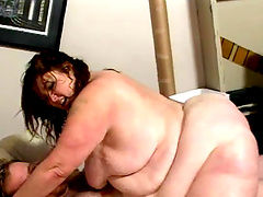 Incredibly fat model Bridget Waters moans during passionate fucking