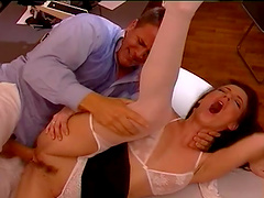 Rough sex with the horny doctor Judith Fox