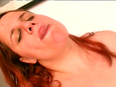 Dirty BBW slut Nagy Agnes enjoys getting fucked after giving head