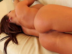 Hot trophy wife Madison Ivy plays with her fake boobs and wet cunt