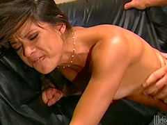 Desirable brunette Stephanie Swift gets fucked by a large cock