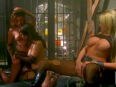 Passionate lesbian scene among three gorgeous babes