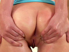 Small boobs blondie pleasures her pussy and enjoys pissing
