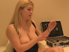Desirable wife Danielle spreads her legs to pleasure her cravings