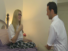 Video of naughty girl Danielle sucking a dick and getting fucked