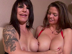 Lesbian fun among the horny moms Daisy Rock and June Summers
