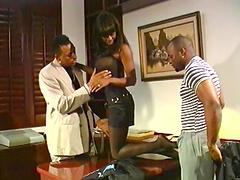 Ebony couple fuckin' hard as fuckin' fuck!