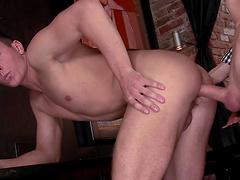 Horny gay dude enjoys riding a large dick of his handsome lover