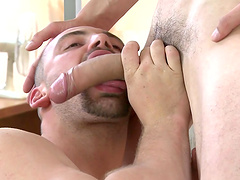 Amateur guy gets his mouth and ass fucked by a horny gay dude