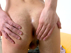 Closeup video of hardcore gay sex with a messy facial ending