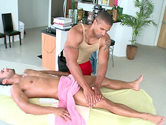 Gentle dick sucking and ass fucking between two handsome gay guys