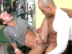 Handsome dudes fuck each other in the mouth and tight asshole