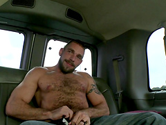 Amazing gay sex among two horny fellas in the back of a car