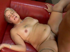 Hot sex with a cock thirsty mature blonde