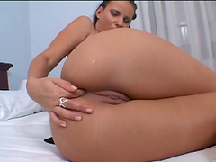 Intense hardcore sex with the sexy brunette Claudia Rossi