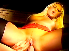 Blonde bitch gets her tight asshole fucked hard
