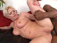 Interracial anal sex with a big black cock for Missy Monroe