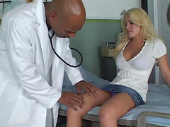 Megan Monroe has interracial sex with her doctor