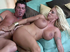 Amazing sex with the busty blonde mommy Holly Halston