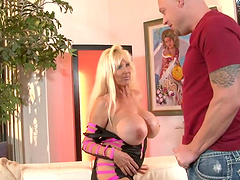 Blonde whore with big tits gets fuckin' nailed