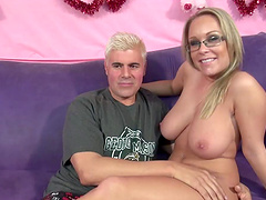 Jessica Moore shows off her breasts berfore being nailed