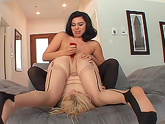 Naughty slut gets her ass drilled by dominant Ashley Blue