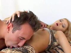 Small boobs blondie Claudie E. monas during hardcore fucking