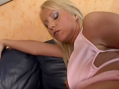 Stunning blonde babes have amazing sex with toys - Bambi Stewart