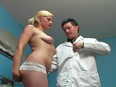 Blonde Getting Her Shaved Pussy Pounded In The Doctors Office