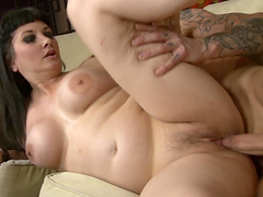 Chubby Brunette With Big Tits Riding Huge Dick Doggystyle