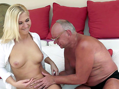 Linda Ray is eaten out and fucked by a horny old man