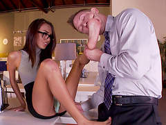 Janice Griffith has her feet worshiped before being fucked