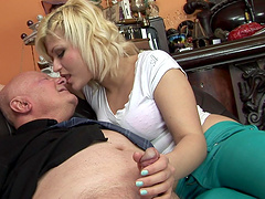 Kitty Rich is fucked by horny old man