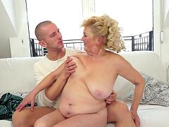 Rough sex with the slutty mature blonde Tamara