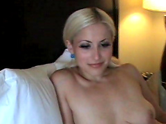 Amateur homemade POV video of a sweet blondie getting fucked