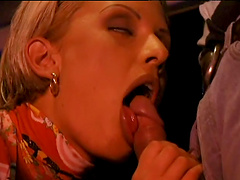 Hardcore MMF threesome in the evening with anal loving Suzan Nielsen