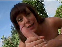 Hot ass slut Lydia St. Martin fucked in both holes in outdoors