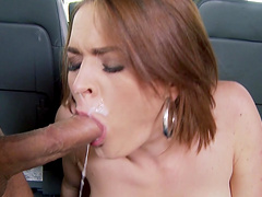 Hardcore fucking in all holes of Krissy Lynn ends with a facial