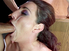 Erotic fucking with tied up wife Savannah Fox who is into BDSM