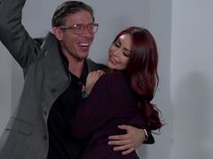 Hot ass redhead cutie Monique Alexander fucked in front of people