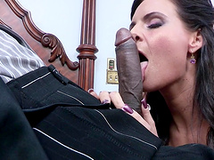 Mature brunette Phoenix Marie spreads her legs to be fucked by a BBC