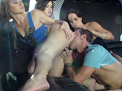 Fucking in the office with Mary Jane Mayhem and her sexy sluts