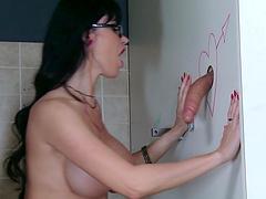 Gloryhole fun leads to kinky fucking with big tits Eva Karera