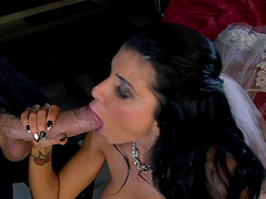 Desirable soon to be wife Romi Rain fucked by her lover one last time